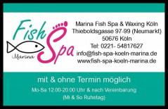 Eine kostenlose Fish Pediküre durch Knabberfische gibt es am Geburtstag in der Kölner Innenstadt gratis bei Marina Fish Spa & Waxing Köln